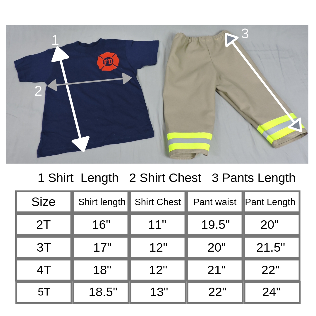 Toddler Firefighter Outfit Tan Bunker Gear look
