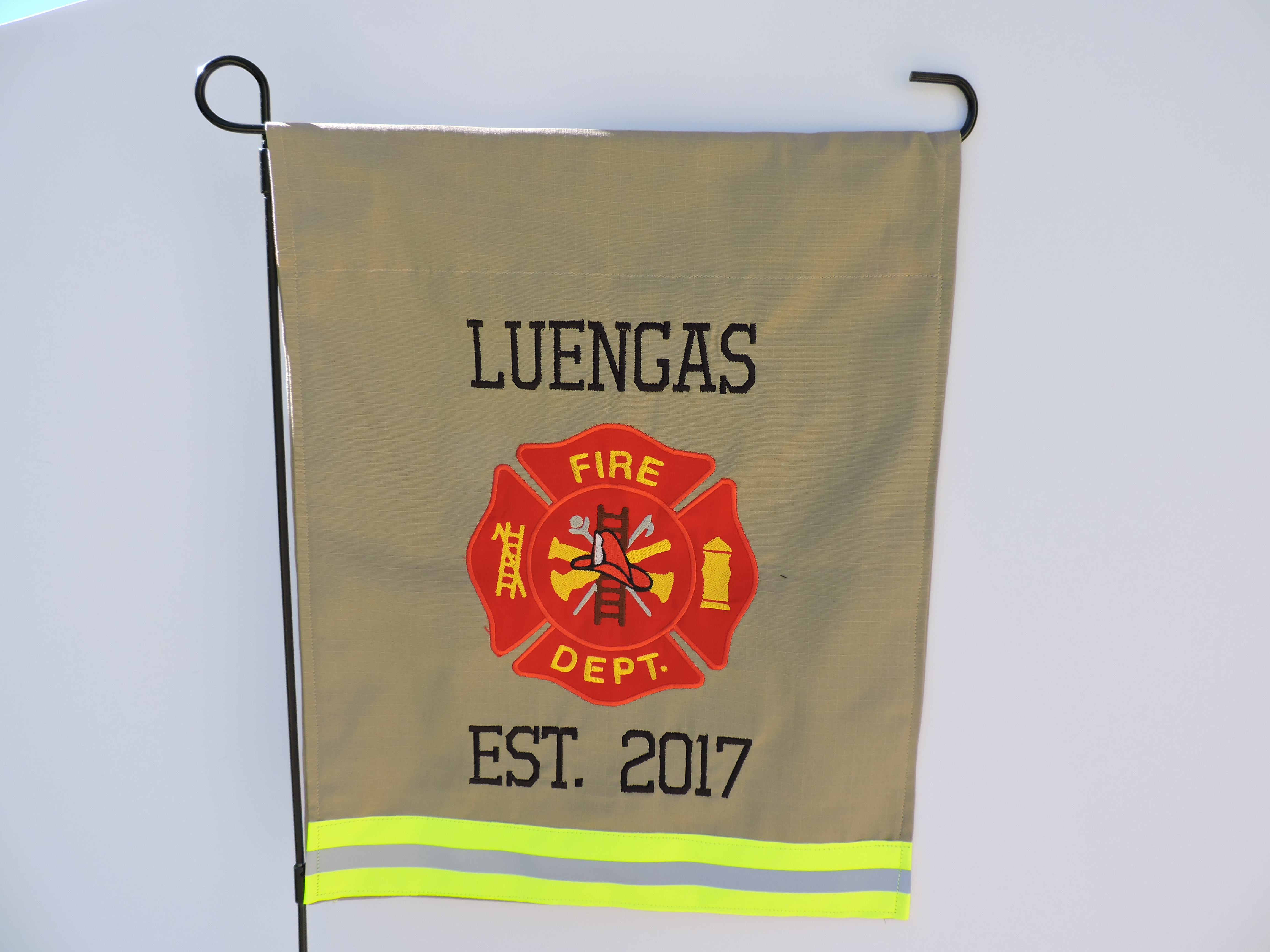 Firefighter Garden Flag