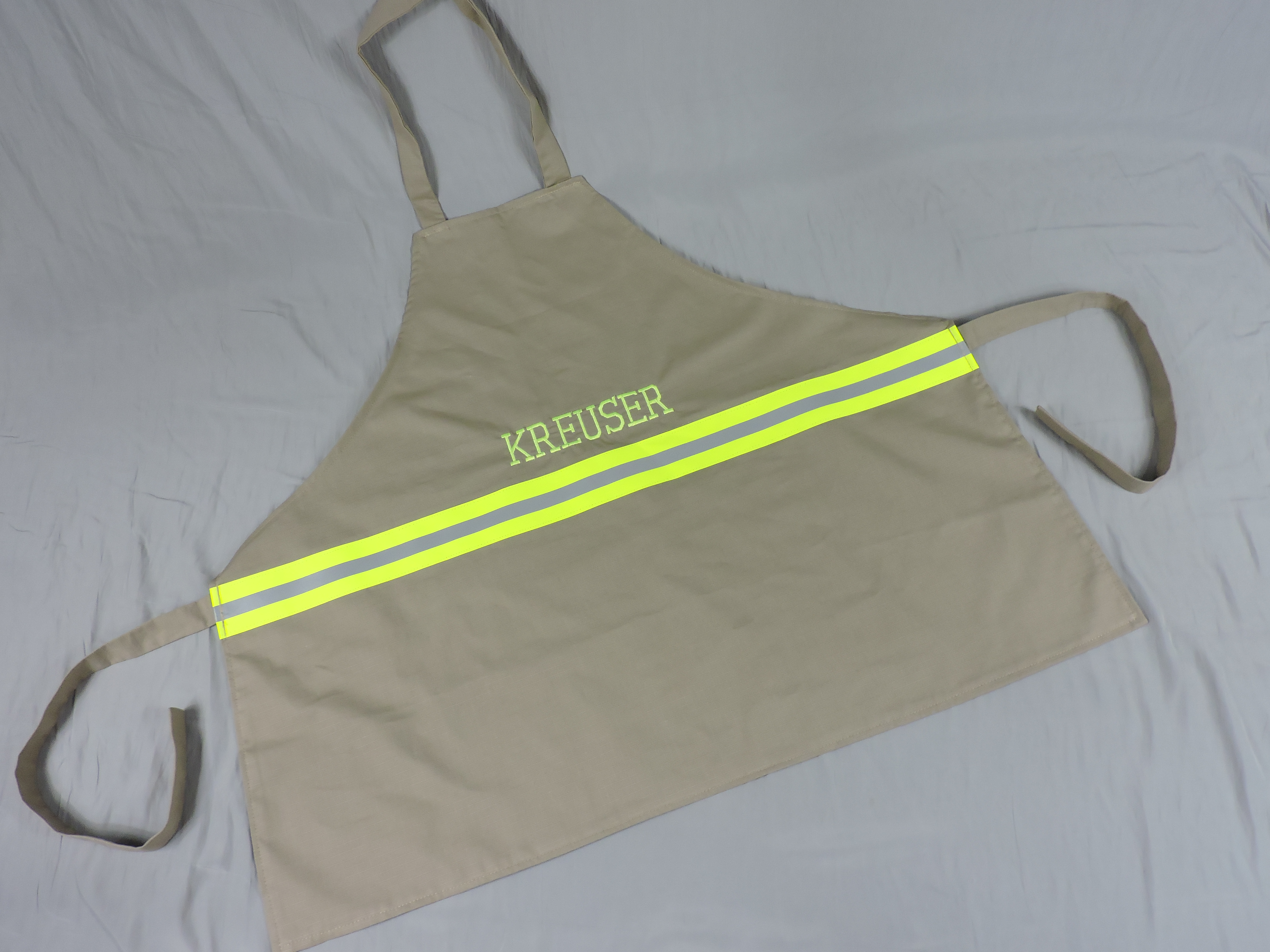 Firefighter Gift Personalized apron Tan
