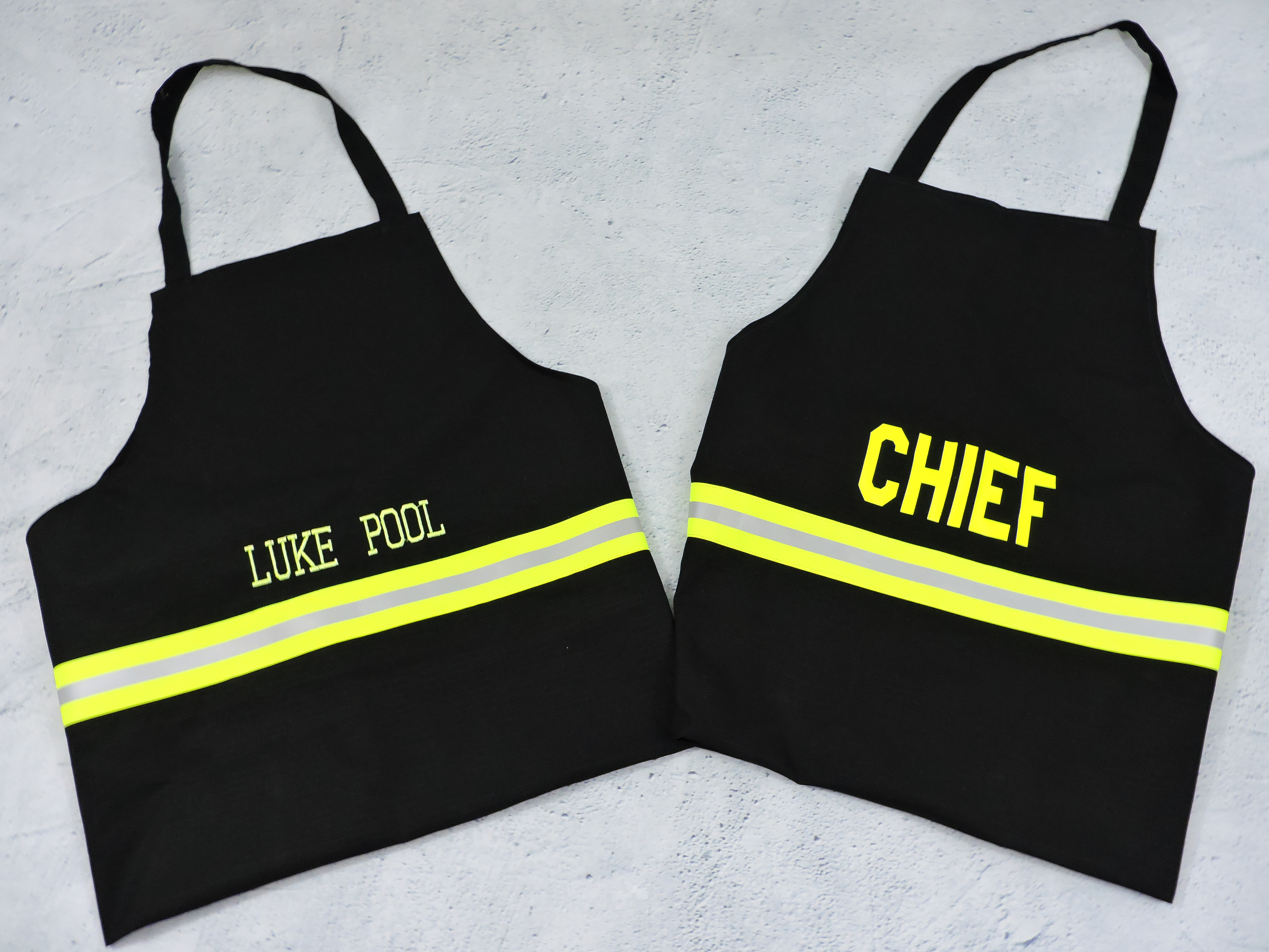 Firefighter Gift Personalized apron Black
