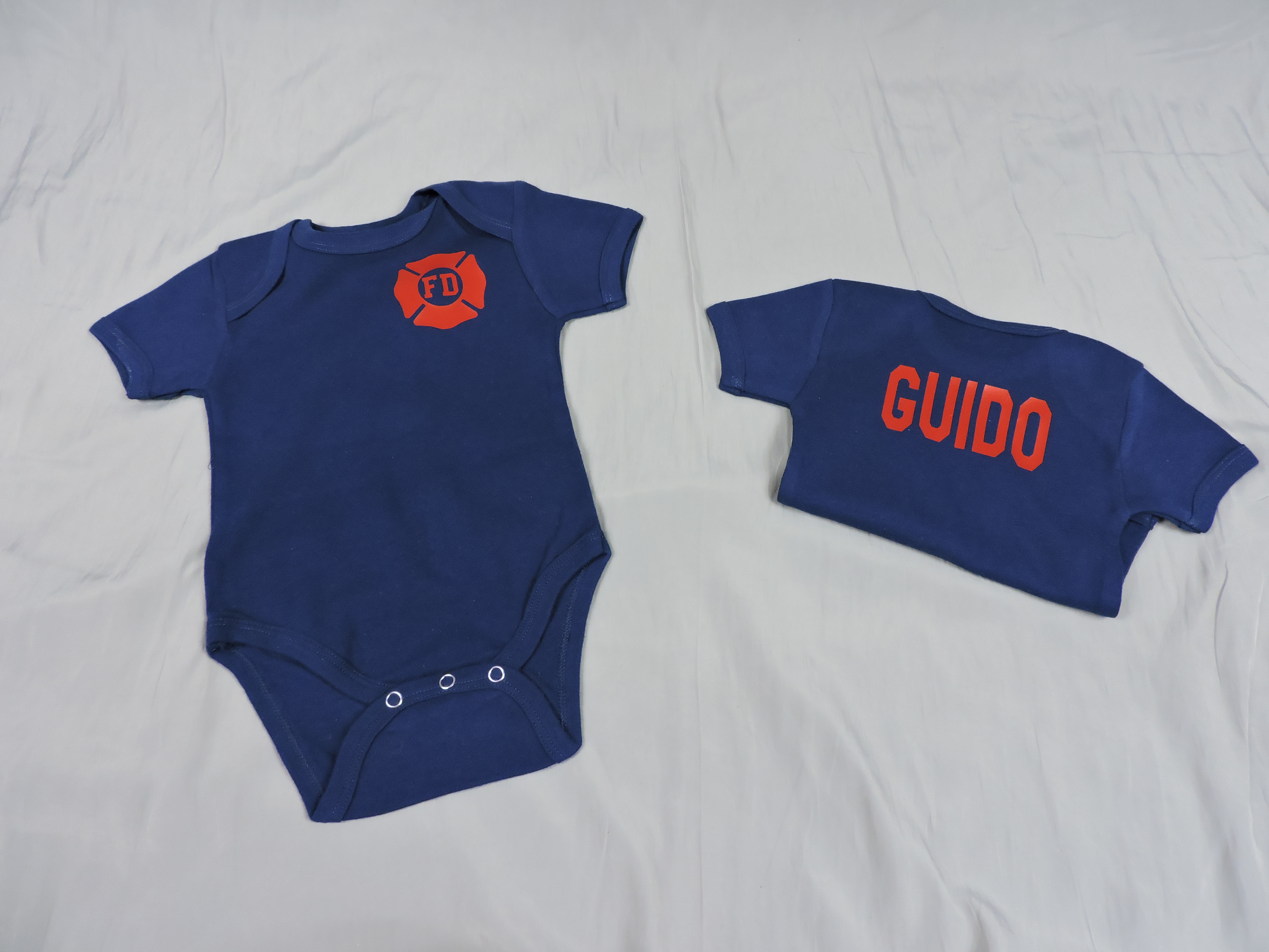 Baby Firefighter Outfit Black Bunker Gear look - Click Image to Close