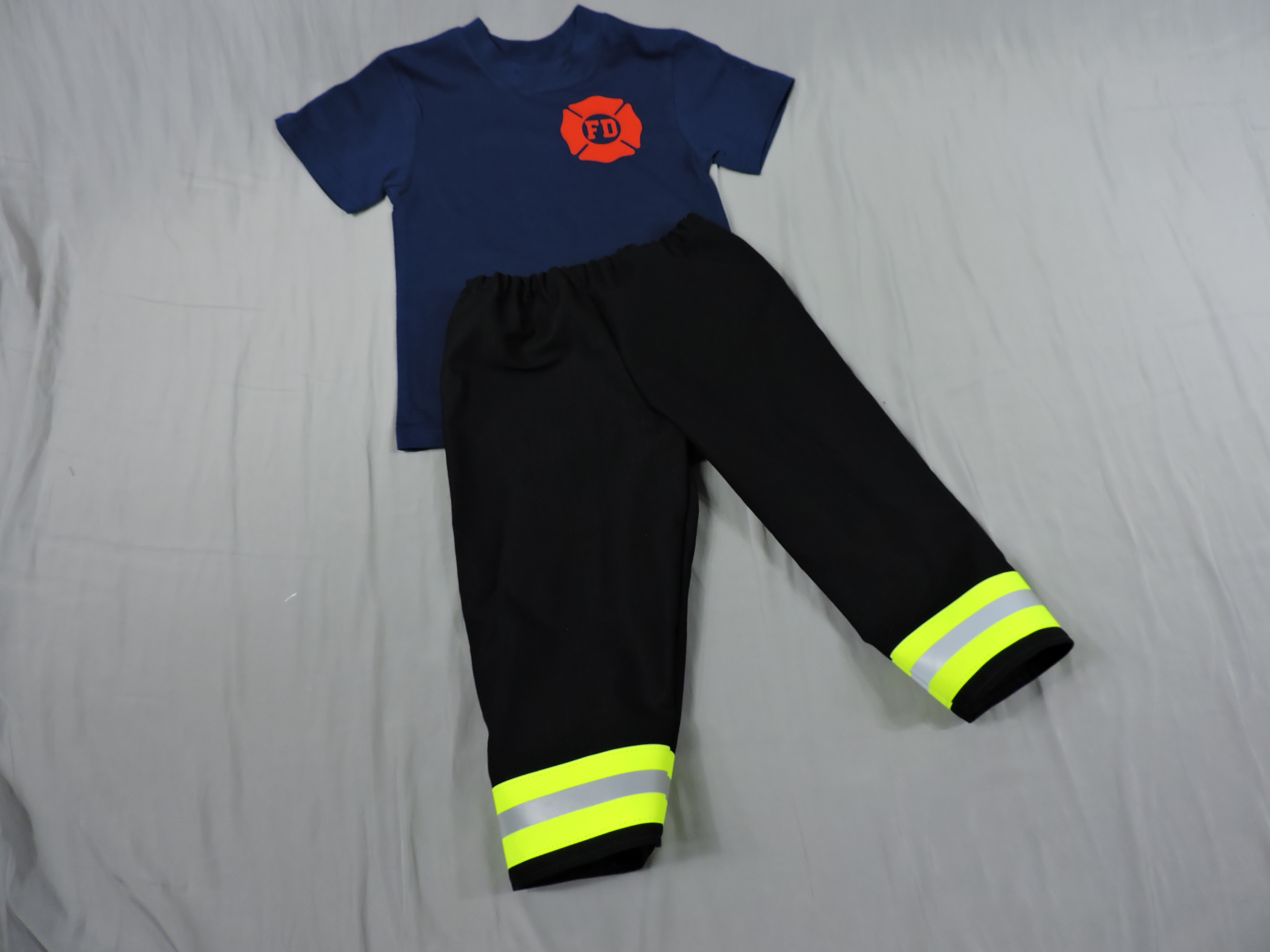 Toddler Firefighter Outfit Black Bunker Gear look