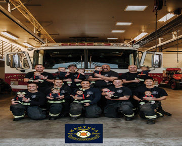 fire station with their babies