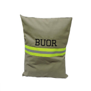 firefighter pillow cover tan with name