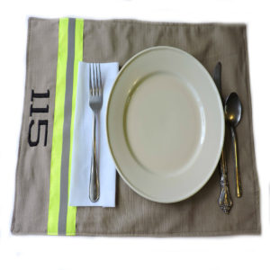 Tan firefighter placemat