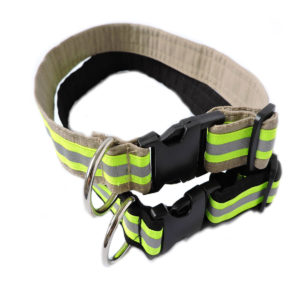 Tan and Black Firefighter Dog Collar