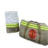 tan Bunker gear duffel and towel