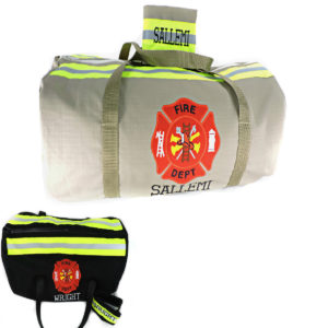 Tan or black Bunker Gear Duffel bag wallet firefighter gift set
