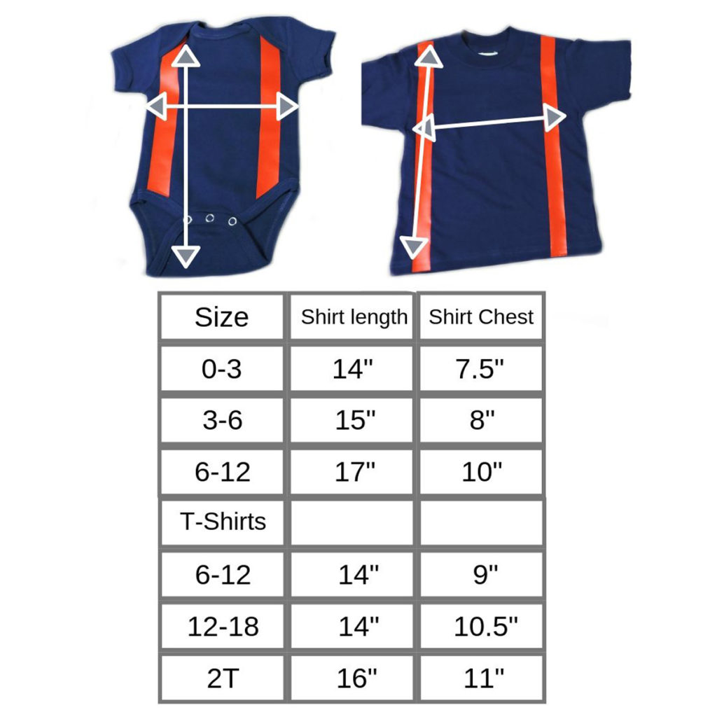 blue firefighter baby shirt with suspenders sizes