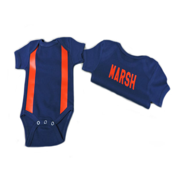 blue firefighter baby shirt with suspenders