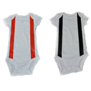 White firefighter baby shirt with suspenders