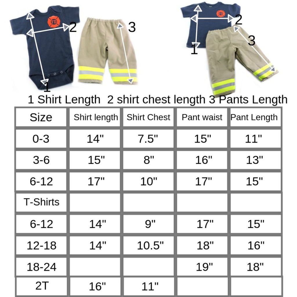 Firefighter-baby-clothes-size-chart