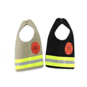tan and black Firefighter Bib