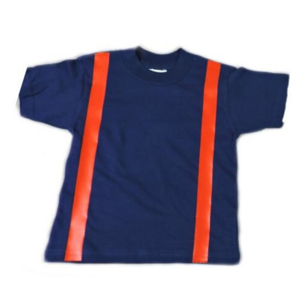 blue firefighter shirt with suspenders